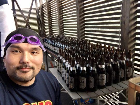 ビールは浴びるものではない♪