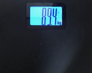 チートデー後の体重の推移